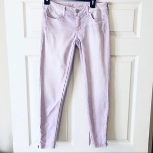 AEO Lilac Jeggings w/ Ankle Zipper Size 2